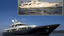 Sylviana yacht - before and after
